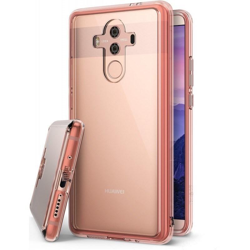 Ringke Fusion Θήκη με TPU Bumper Huawei Mate 10 Pro - Rose Gold (12056)