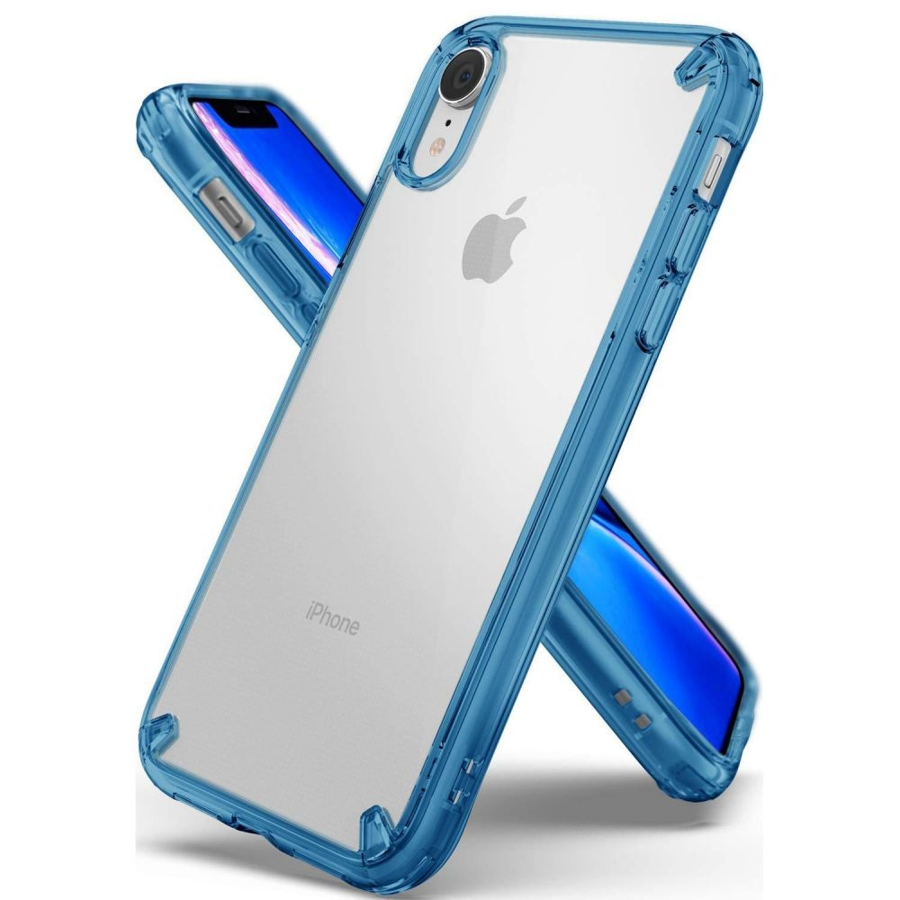 Ringke Fusion Θήκη με TPU Bumper iPhone XR - Aqua Blue (14428)