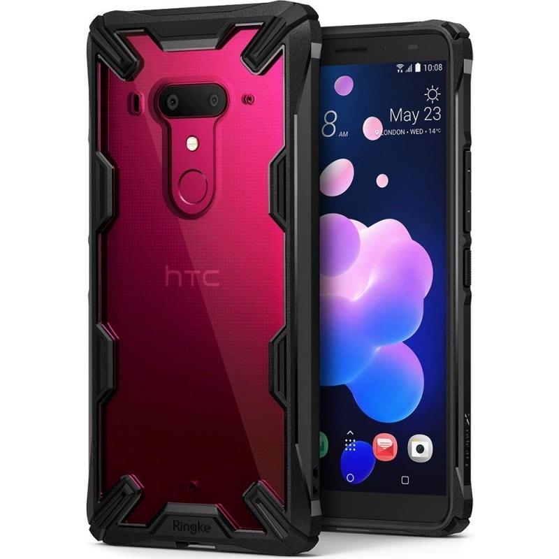 Ringke Fusion-X Θήκη HTC U12 Plus με TPU Bumper - Black (13207)