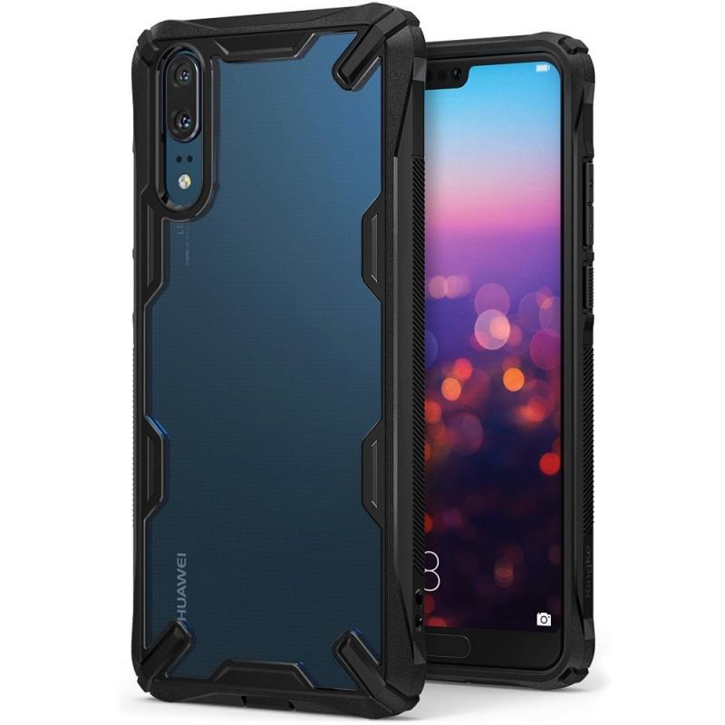 Ringke Fusion-X Θήκη Huawei P20 με TPU Bumper - Black (13208)