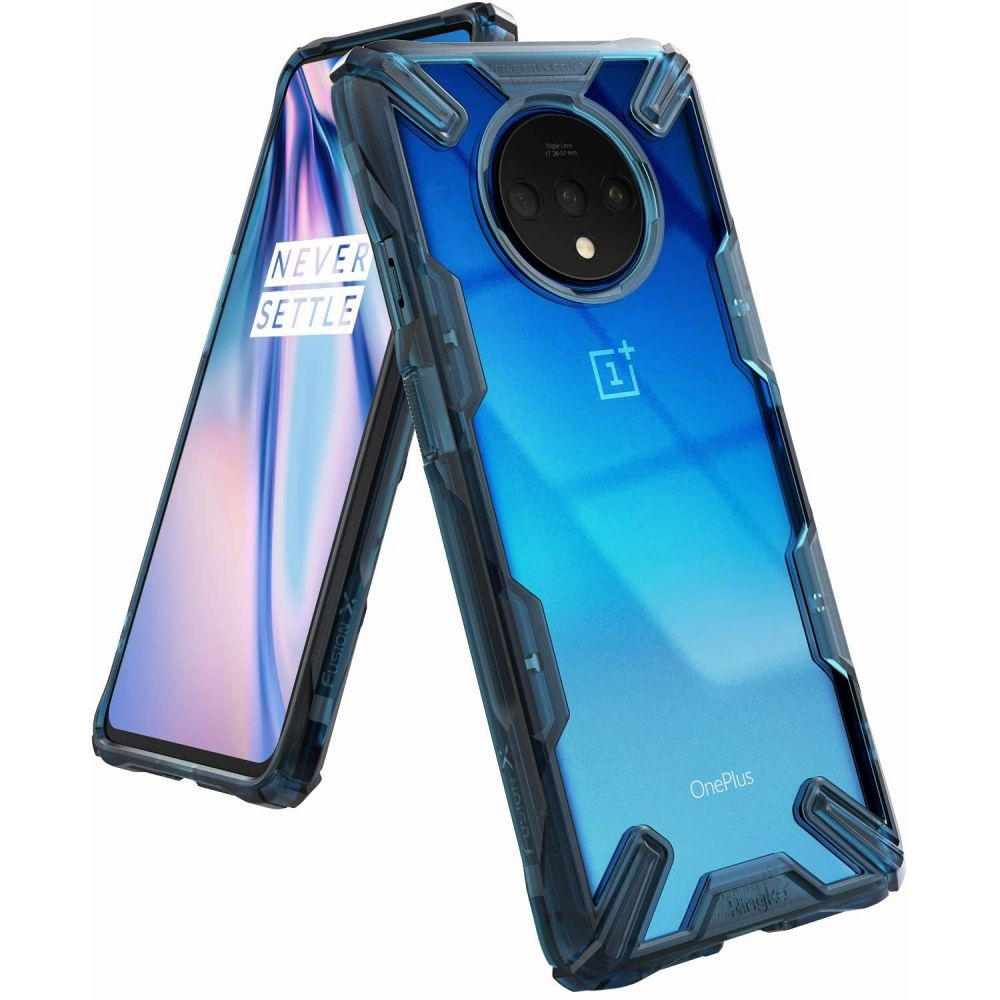 Ringke Fusion-X Θήκη OnePlus 7T - Space Blue (58503)