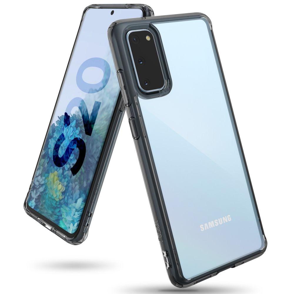 Ringke Fusion Θήκη με TPU Bumper Samsung Galaxy S20 - Smoke Black (64331)