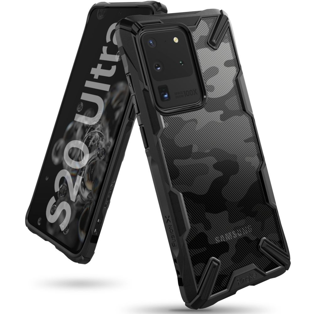 Ringke Fusion X Θήκη Σιλικόνης Samsung Galaxy S20 Ultra - Camo Black (64329)