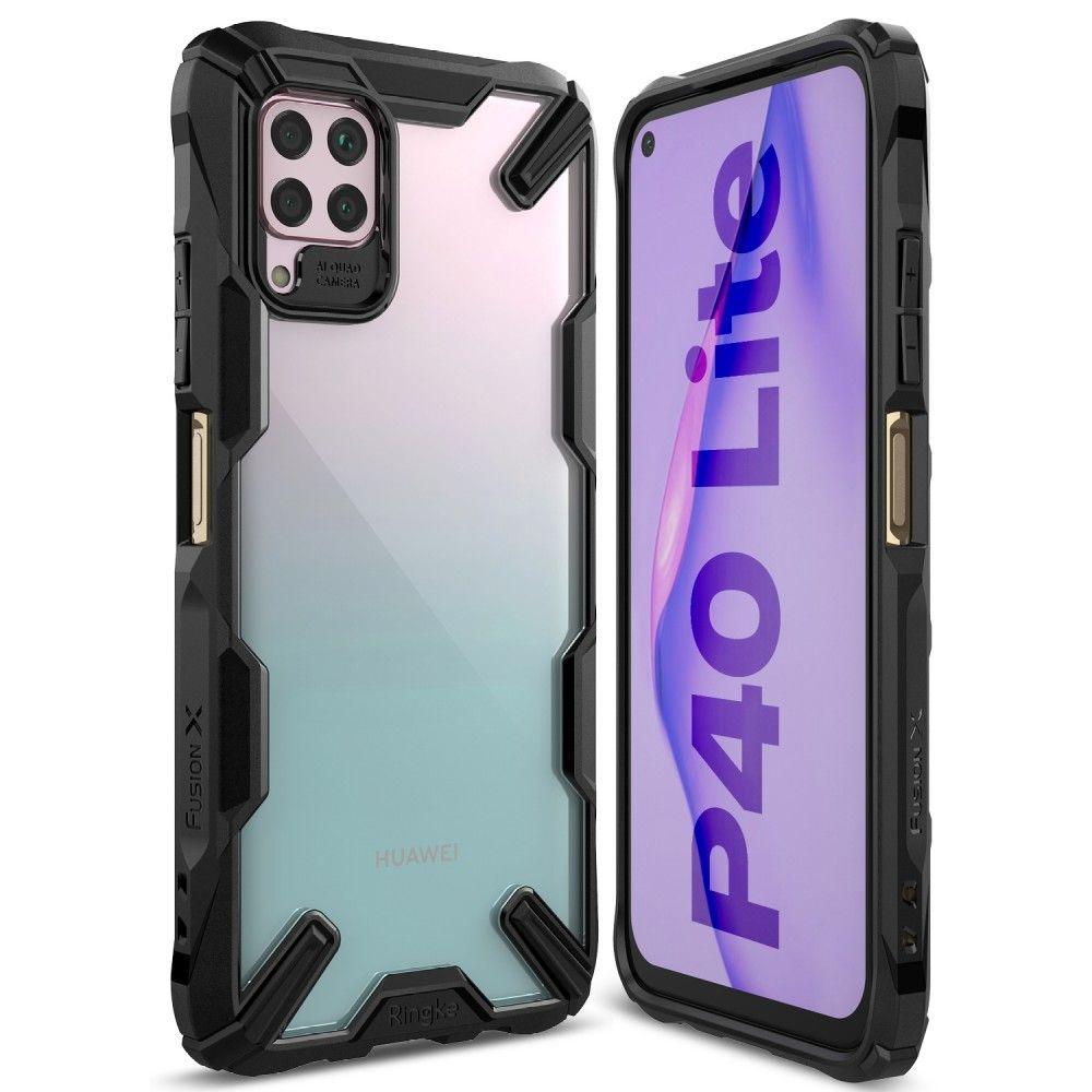 Ringke Fusion X Θήκη Σιλικόνης Huawei P40 Lite - Black (64605)