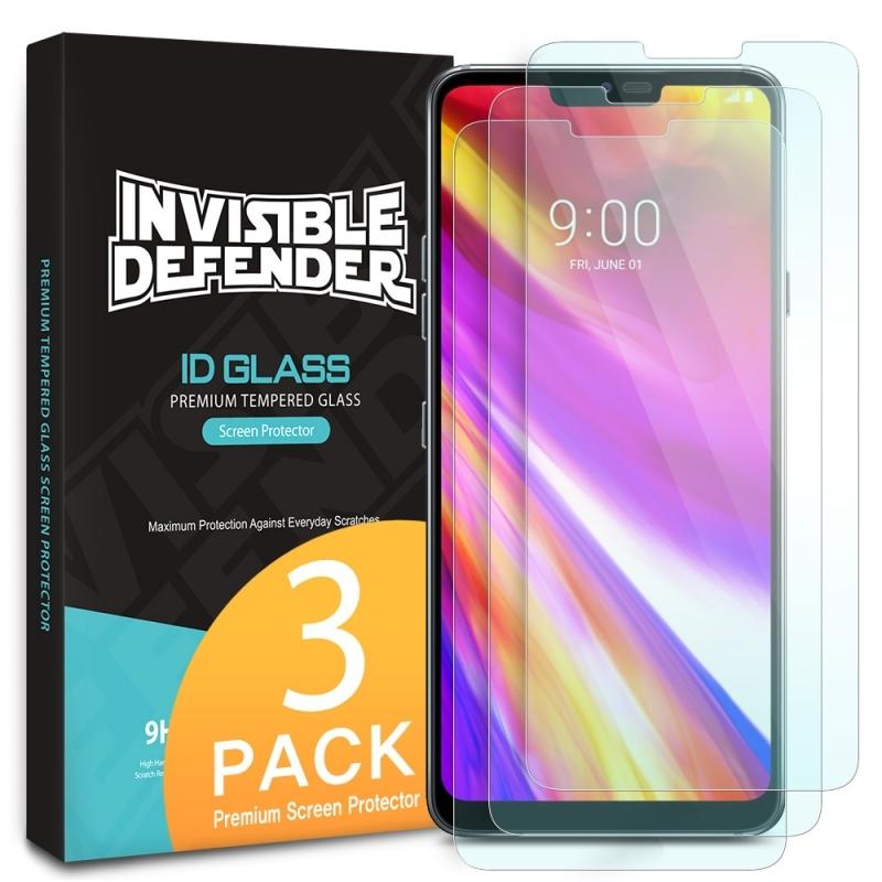Ringke Invisible Defender ID Glass - Premium Αντιχαρακτικό Γυαλί Οθόνης LG G7 ThinQ - 3τμχ (15119)