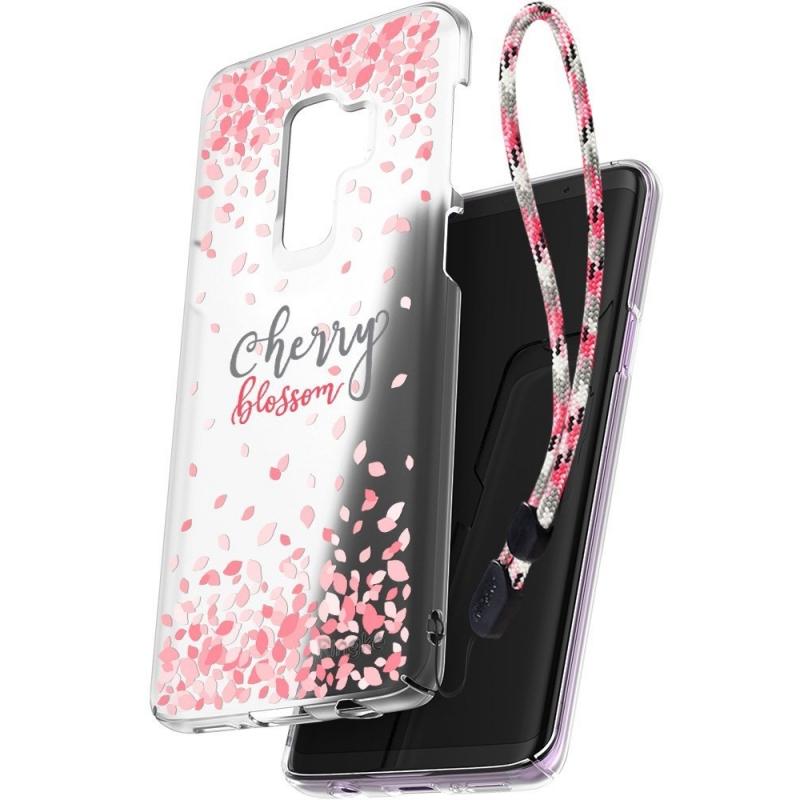 Ringke Slim Cherry Blossom Θήκη Samsung Galaxy S9 Plus - Clear Mist + Strap (13008)