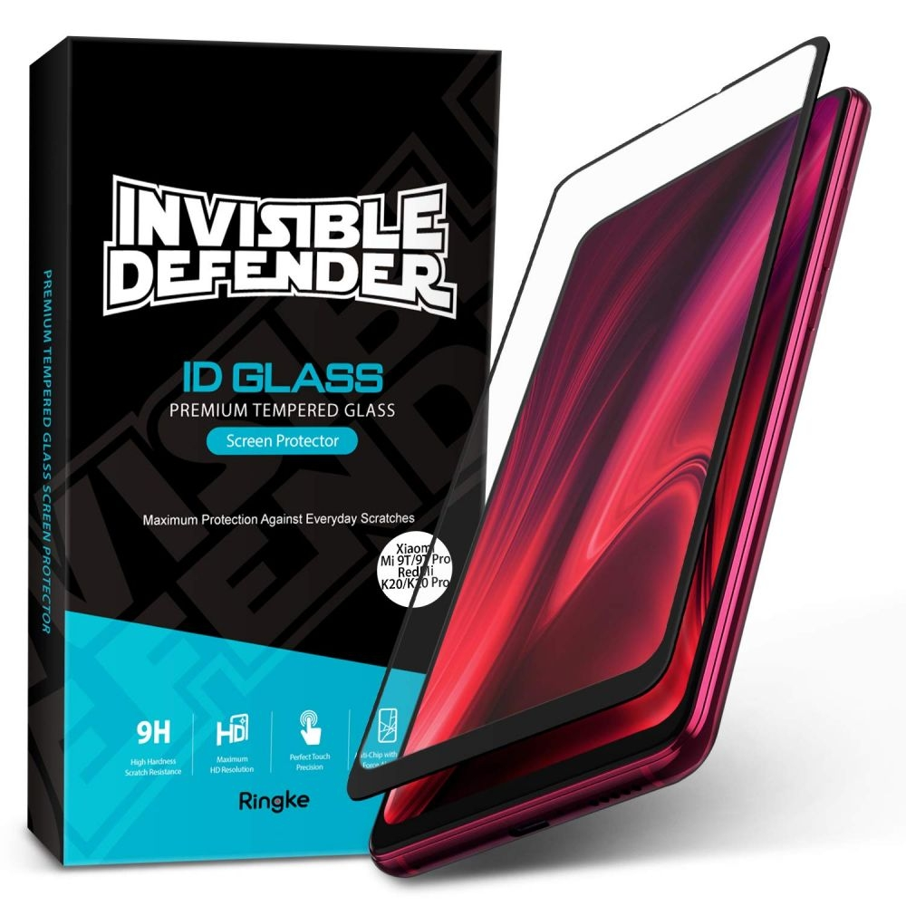 Ringke Invisible Defender ID Tempered Glass - Premium Full Cover Αντιχαρακτικό Γυαλί Οθόνης Xiaomi Mi 9T (52115)