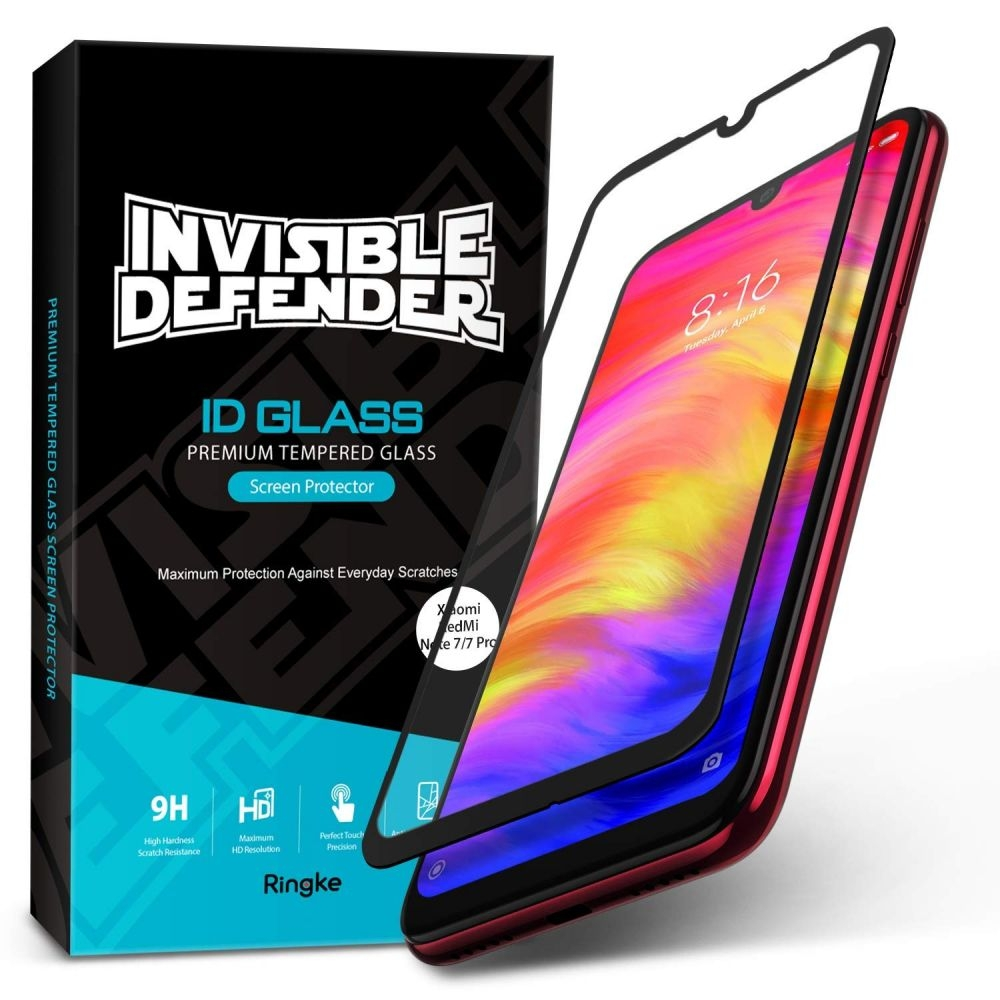 Ringke Invisible Defender ID Tempered Glass - Premium Full Cover Αντιχαρακτικό Γυαλί Οθόνης Xiaomi Redmi Note 7 / Note 7 Pro (52114)