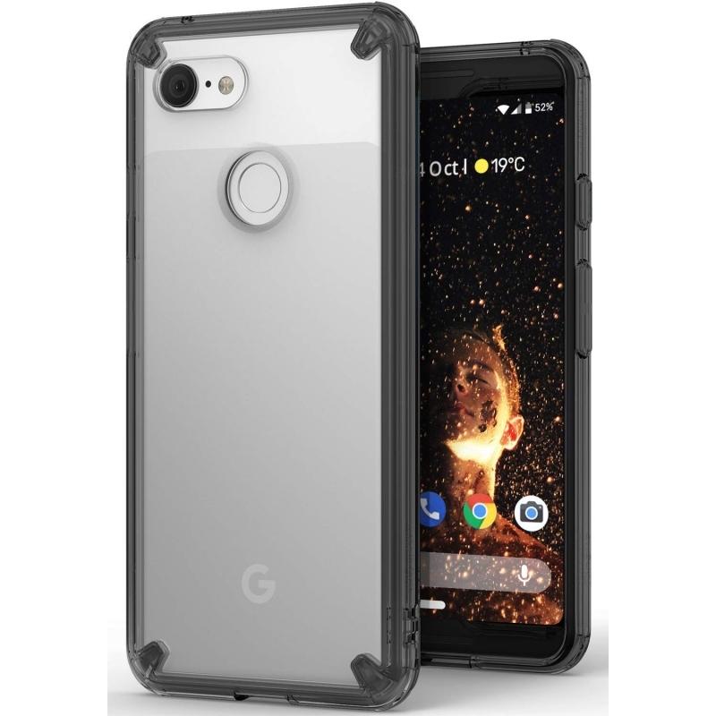 Ringke Fusion Θήκη με TPU Bumper Google Pixel 3 - Smoke Black (14699)
