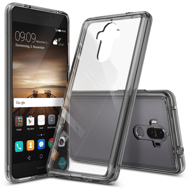 Ringke (Fusion) Διάφανη Θήκη Huawei Mate 9 με TPU Bumper Smoke Black + Screen Protector (9258)