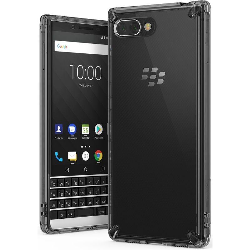 Ringke (Fusion) Διάφανη Θήκη Blackberry KEY2 με TPU Bumper - Smoke Black (13923)