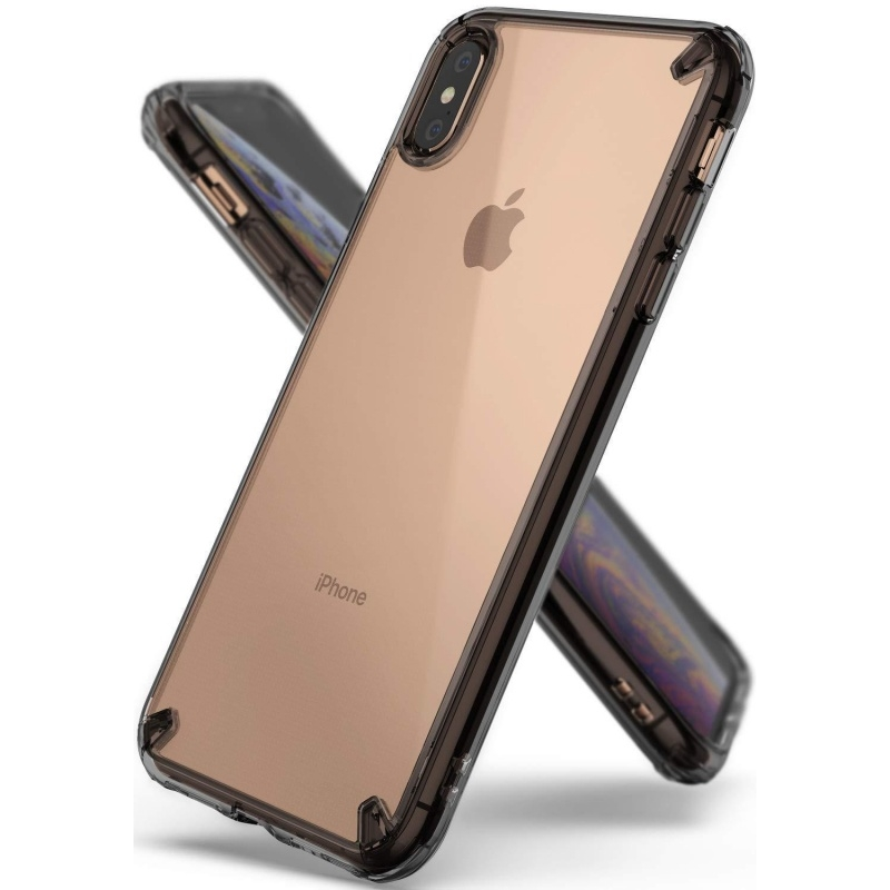 Ringke Fusion Θήκη με TPU Bumper iPhone XS Max - Smoke Black (14011)