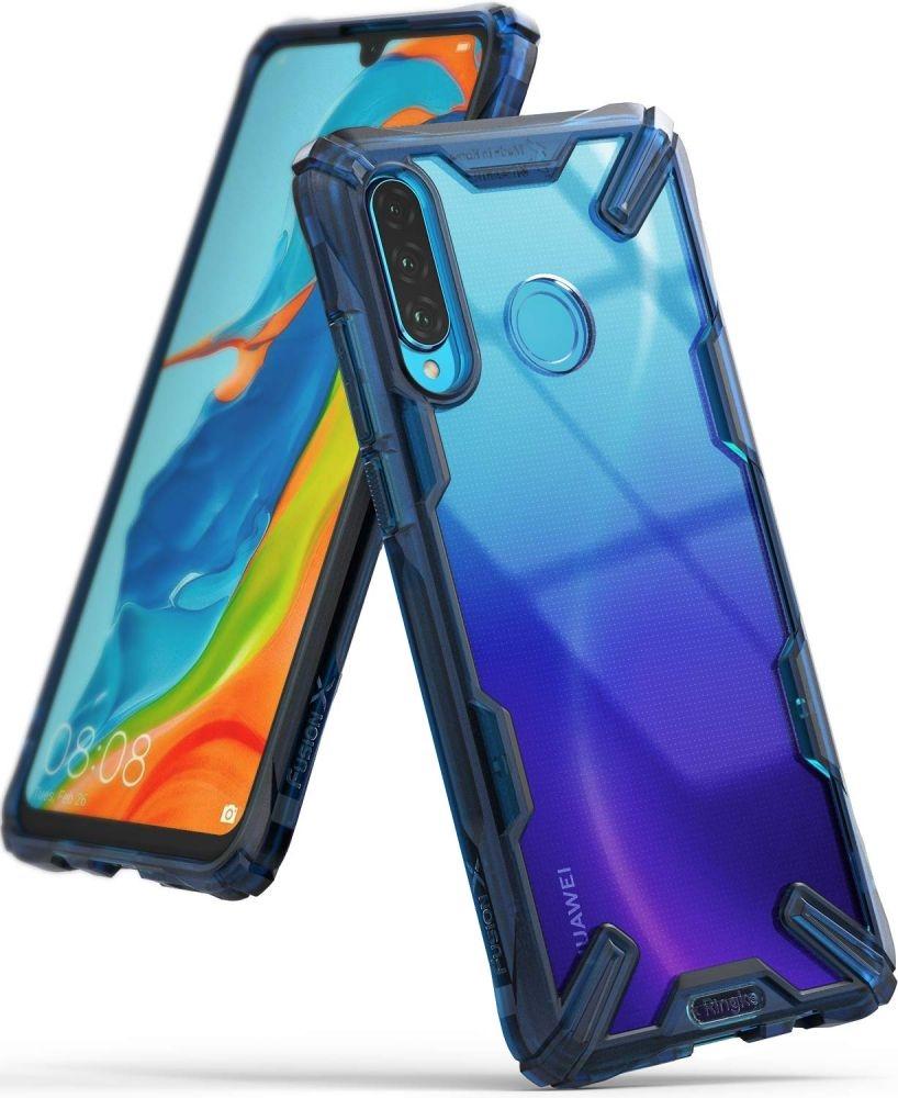 Ringke Fusion X Θήκη Σιλικόνης Huawei P30 Lite - Space Blue (58149)