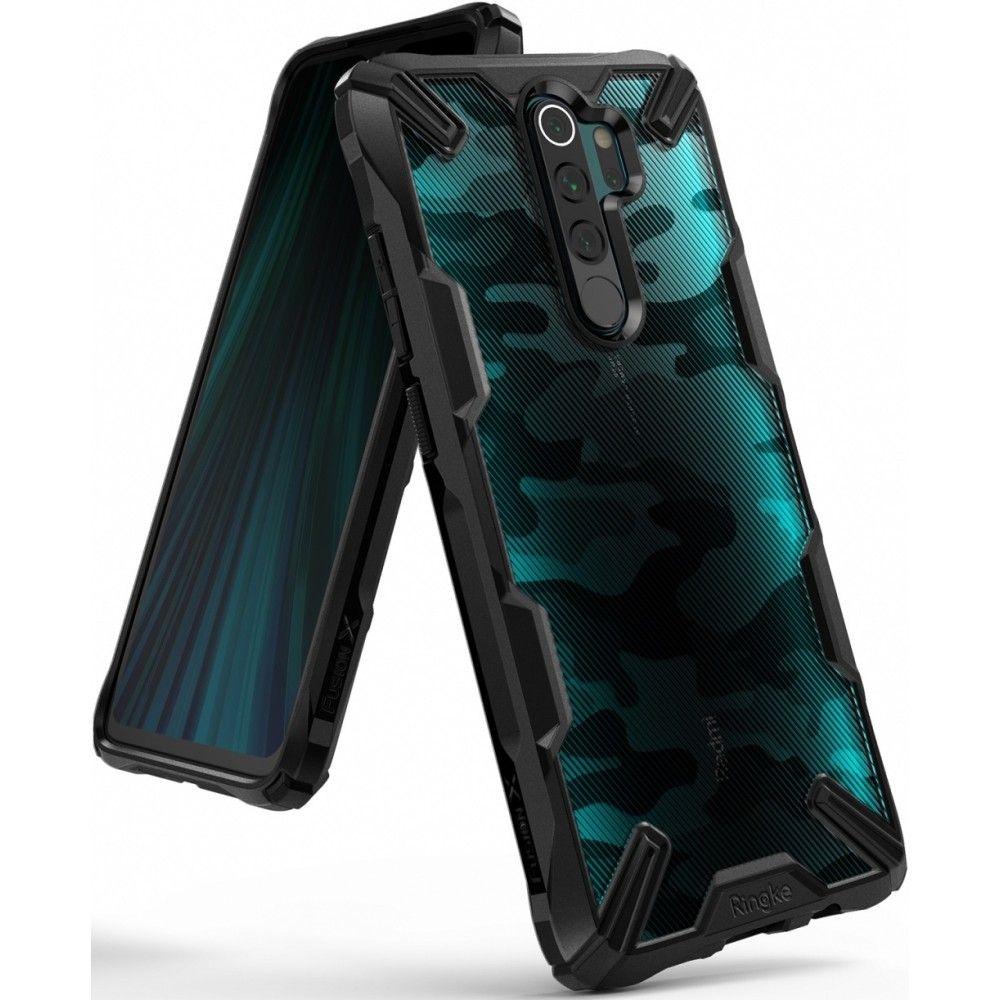 Ringke Fusion X Θήκη Σιλικόνης Xiaomi Redmi Note 8 Pro - Camo Black (58152)