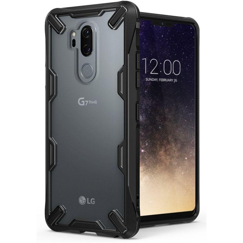 Ringke Fusion-X Θήκη LG G7 ThinQ με TPU Bumper - Black (14430)