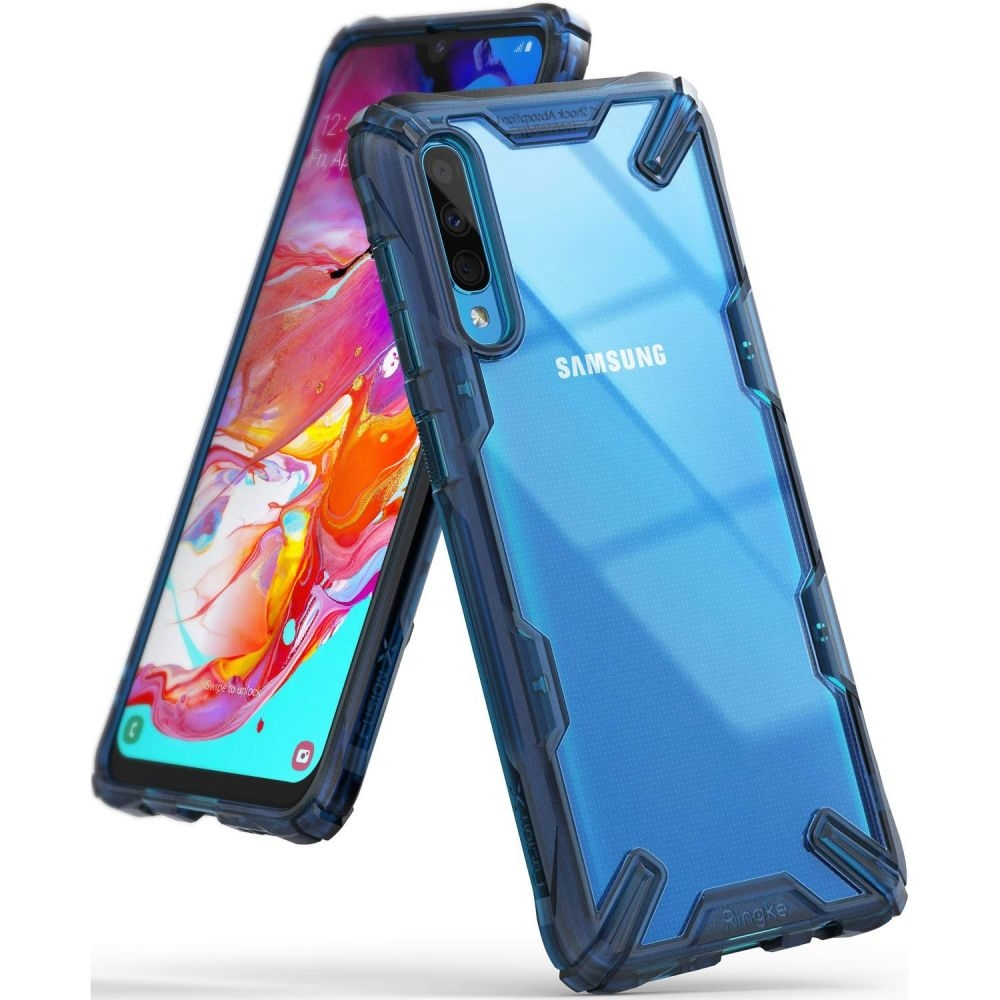 Ringke Fusion-X Θήκη Samsung Galaxy A70 - Space Blue (49073)