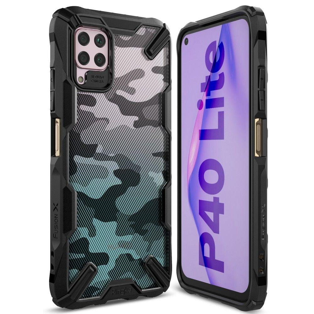 Ringke Fusion X Θήκη Σιλικόνης Huawei P40 Lite - Camo Black (63885)