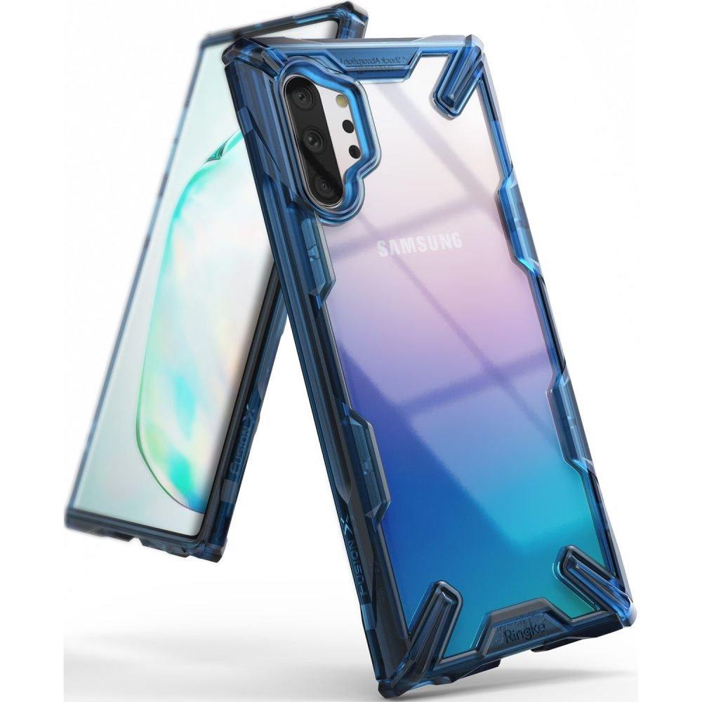 Ringke Fusion-X Θήκη Samsung Galaxy Note 10 Plus - Blue / Transparent (51634)