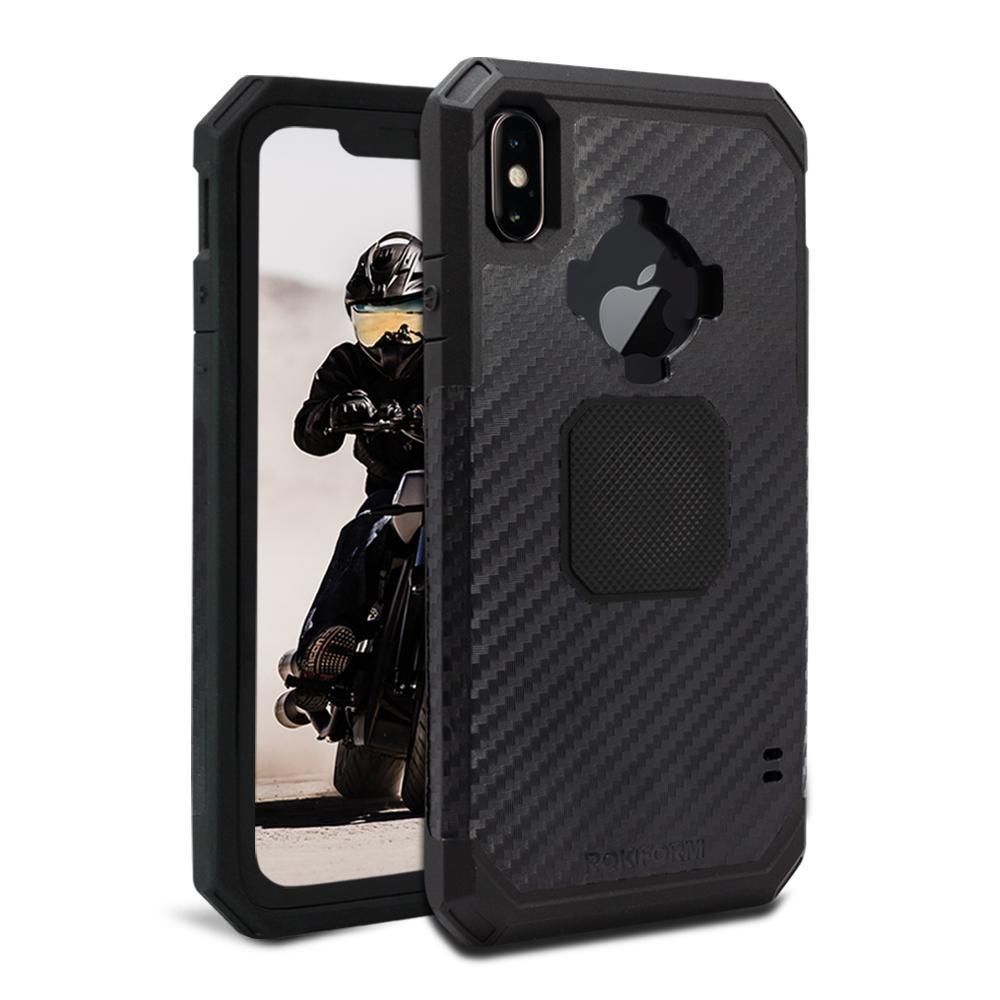 Rokform Rugged Θήκη iPhone XS Max με Μεταλλική Πλάκα για Μαγνητική Βάση Αυτοκινήτου - Black (305101P)