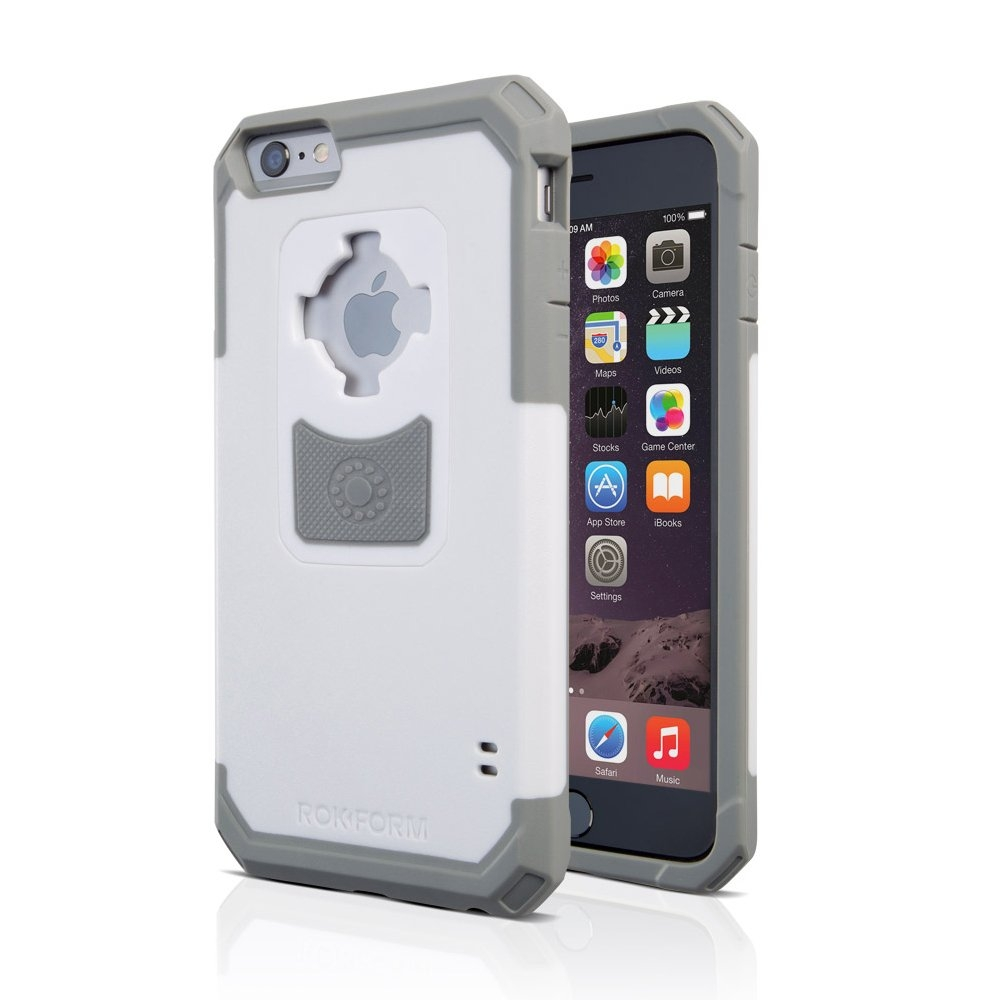 Rokform Rugged V3 Θήκη με Μαγνητική Βάση Αυτοκινήτου iPhone 6 / 6S - White / Grey (302209)