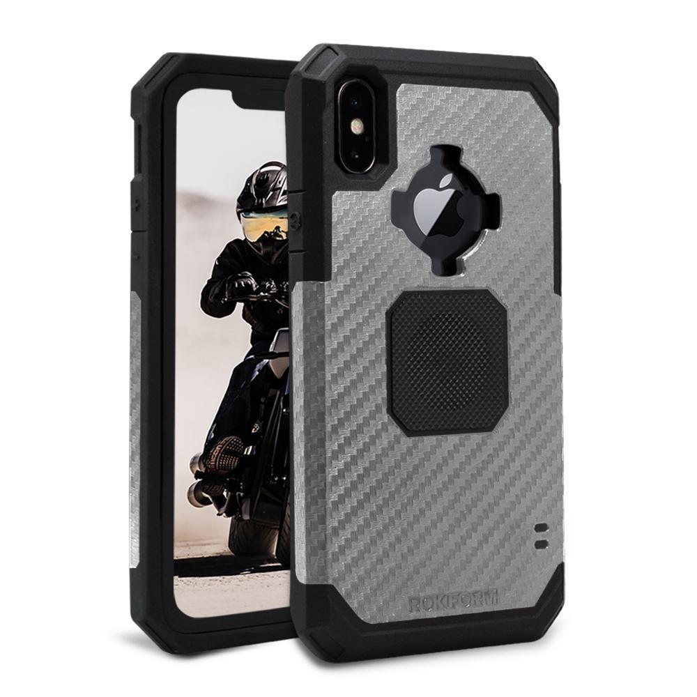 Rokform Rugged Θήκη iPhone XS Max με Μεταλλική Πλάκα για Μαγνητική Βάση Αυτοκινήτου - Gunmetal (305143P)