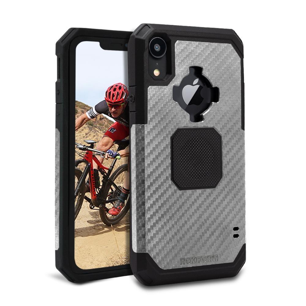 Rokform Rugged Θήκη iPhone XR με Μεταλλική Πλάκα για Μαγνητική Βάση Αυτοκινήτου - Gunmetal (305343P)