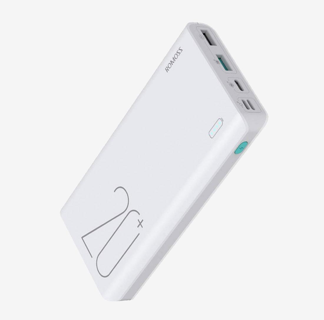 Romoss Sense 6+ Φορητή Μπαταρία Φόρτισης (Power Bank) - 20000Mah - White (PH80-C02-02)