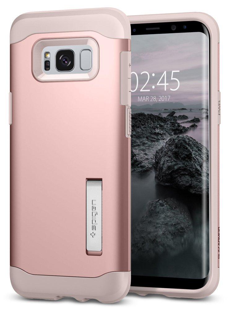 Spigen Θήκη Slim Armor Samsung Galaxy S8 - Rose Gold (565CS21434)