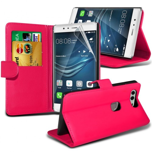 Θήκη Huawei P9 Plus - Πορτοφόλι (8957)  Κόκκινο - OEM