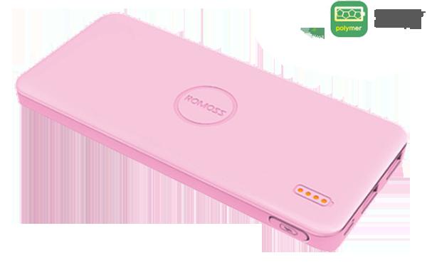 Φορητή Μπαταρία Φόρτισης (Power Bank) - 5000 mAh by Romoss - POLYMOS 5 Ροζ