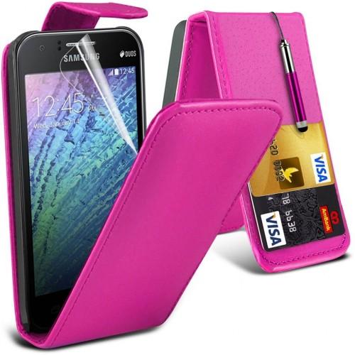 Flip Θήκη Samsung Galaxy J1 (2015) - Ροζ (8953) - OEM