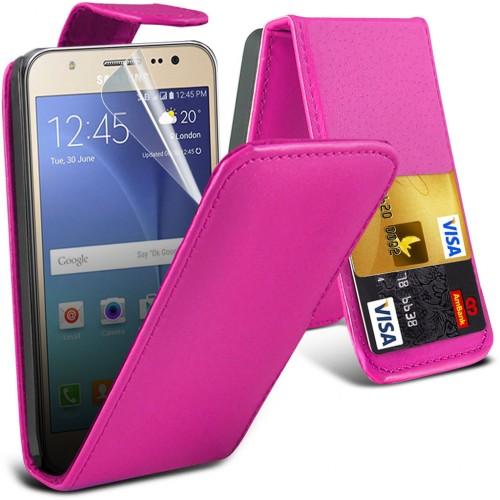 Flip Θήκη Samsung Galaxy J5 (2015) (001-002-055) Ροζ - OEM
