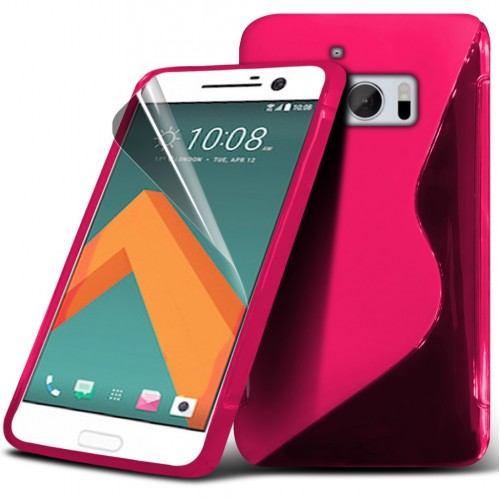 Θήκη S-Line Σιλικόνης HTC 10 - Ροζ (9723) - OEM θήκες κινητών