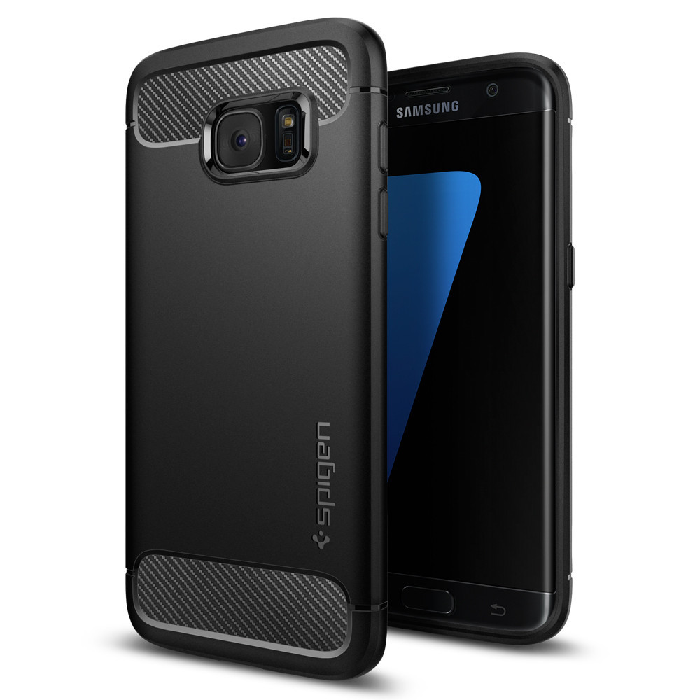 Spigen Θήκη Rugged Armor Samsung Galaxy S7 Edge Tough - Black (556CS20033)