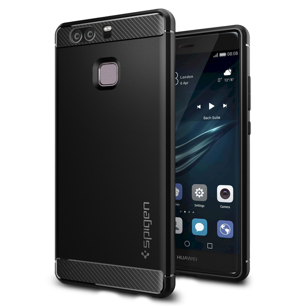 Spigen Θήκη Rugged Armor Huawei P9 Tough - Black (L06CS20376)