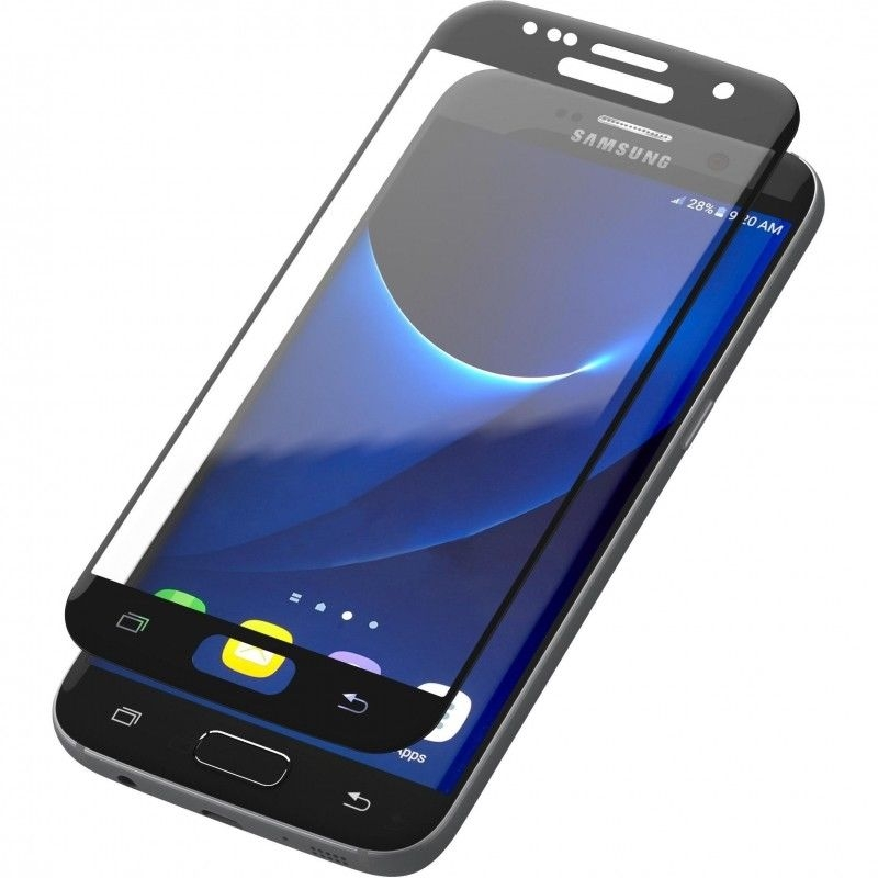 Zagg Invisible Shield glass & Curved Full Face Samsung Galaxy S7 - Black Finish (GS7CGS-BK0)