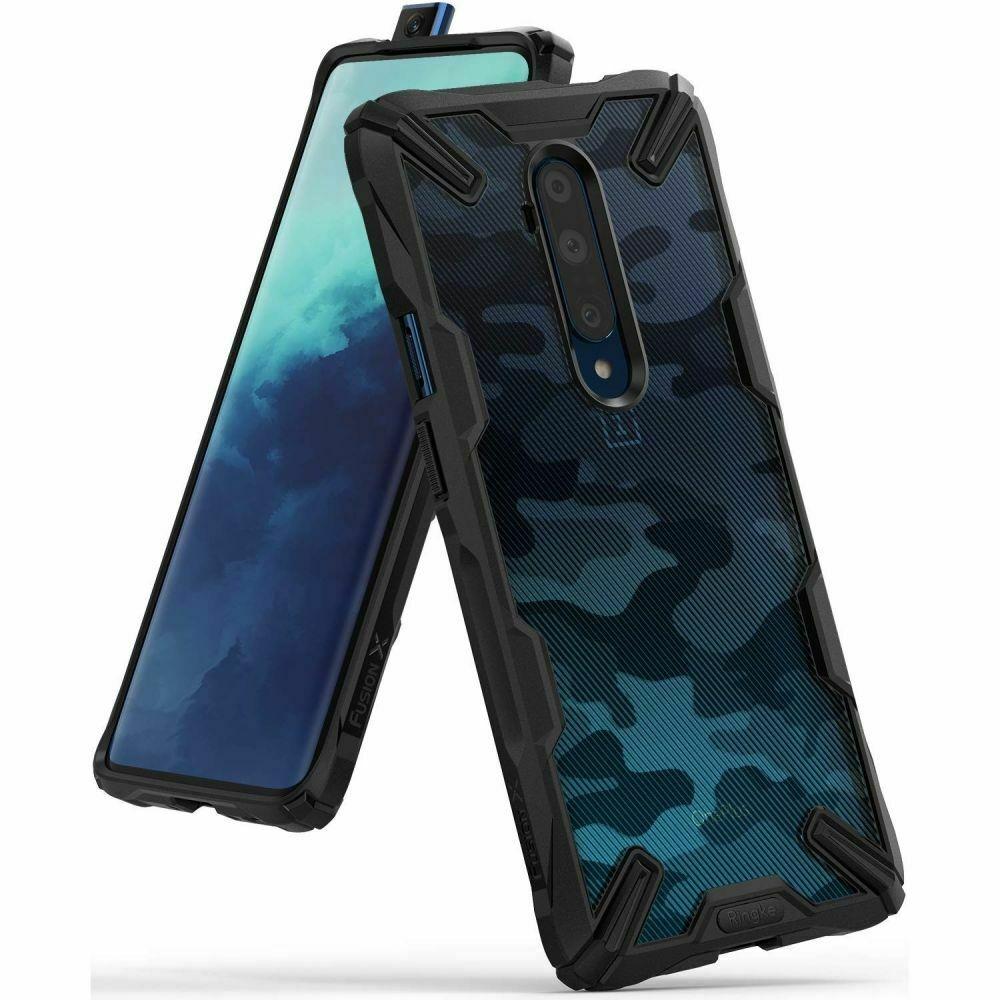Ringke Fusion X Θήκη Σιλικόνης OnePlus 7T Pro - Camo Black (59483)