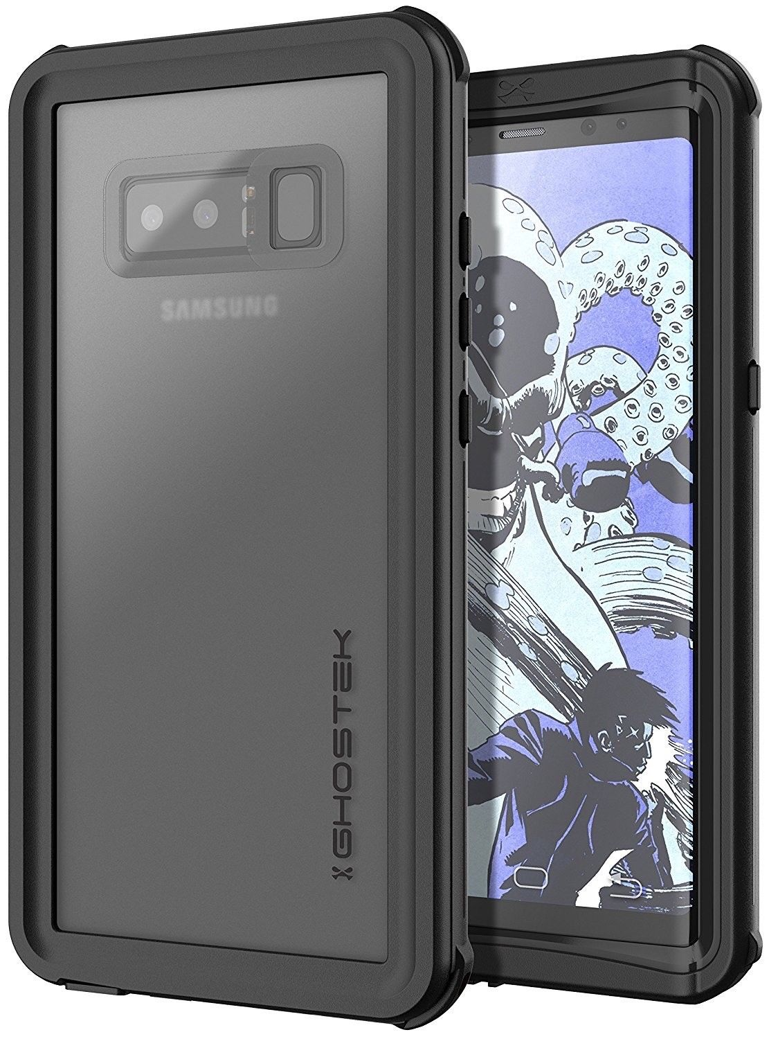 Ghostek Nautical 2 Αδιάβροχη Θήκη Samsung Galaxy Note 8 - Black (CA-GHOCAS902-00)