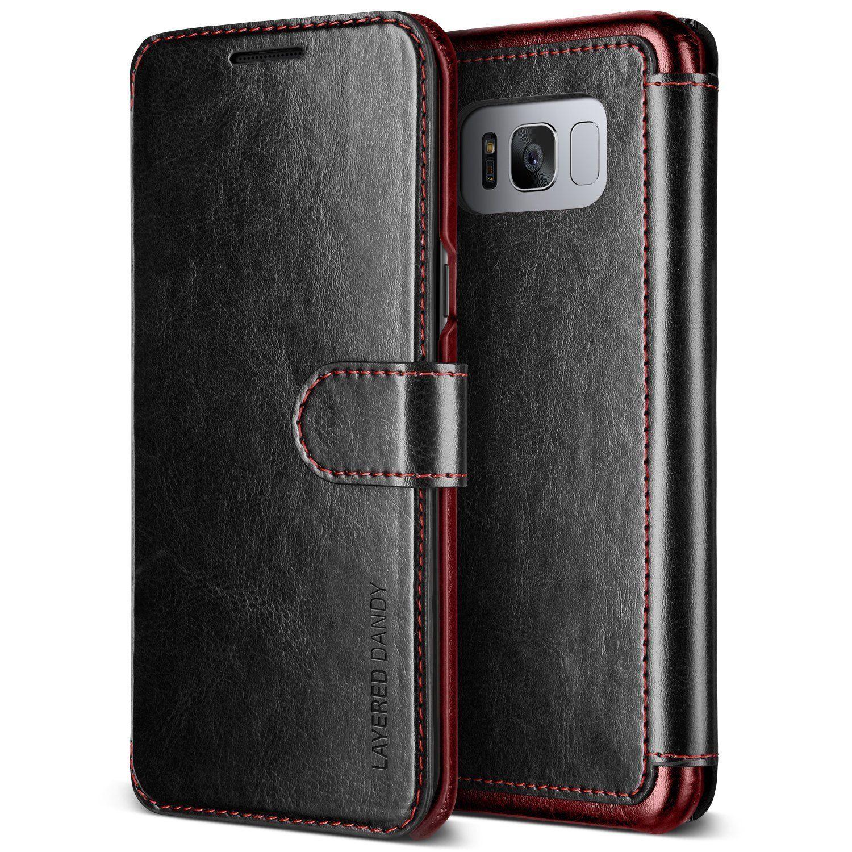 VRS Design Dandy Layered Θήκη - Πορτοφόλι Samsung Galaxy S8 Plus - Black (VRSG8P-LDDBK)