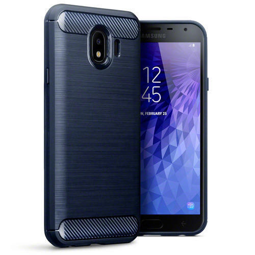 Terrapin Θήκη Σιλικόνης Carbon Fibre Design Samsung Galaxy J4 2018 - Dark Blue (118-002-711)
