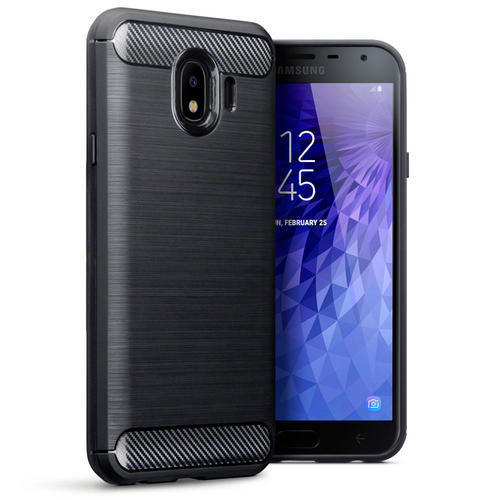 Terrapin Θήκη Σιλικόνης Carbon Fibre Design Samsung Galaxy J4 2018 - Black (118-002-710)