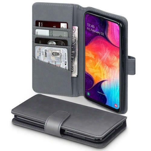 Terrapin Δερμάτινη Θήκη - Πορτοφόλι Samsung Galaxy A50 - Grey (117-002a-166)