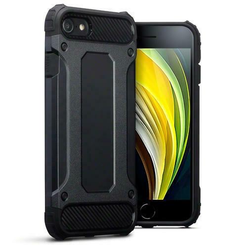 Terrapin Ανθεκτική Θήκη Double Layer Impact iPhone SE 2020 / 8 / 7 - Black (131-122-017)