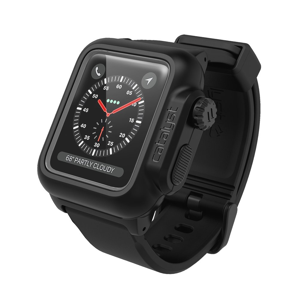 Catalyst Αδιάβροχη Θήκη Apple Watch 42mm Series 3/2/1 - Stealth Black (CAT42WAT3BLK)
