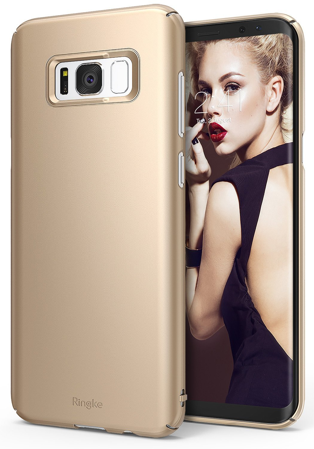 Etui Ringke Slim Θήκη Samsung Galaxy S8 Plus - Royal Gold (B06XBVF595)