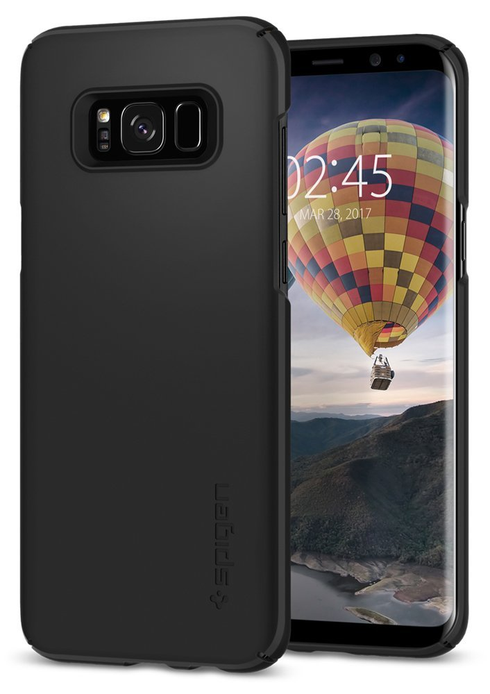 Spigen Θήκη Thin Fit Samsung Galaxy S8 - Black (565CS21624)