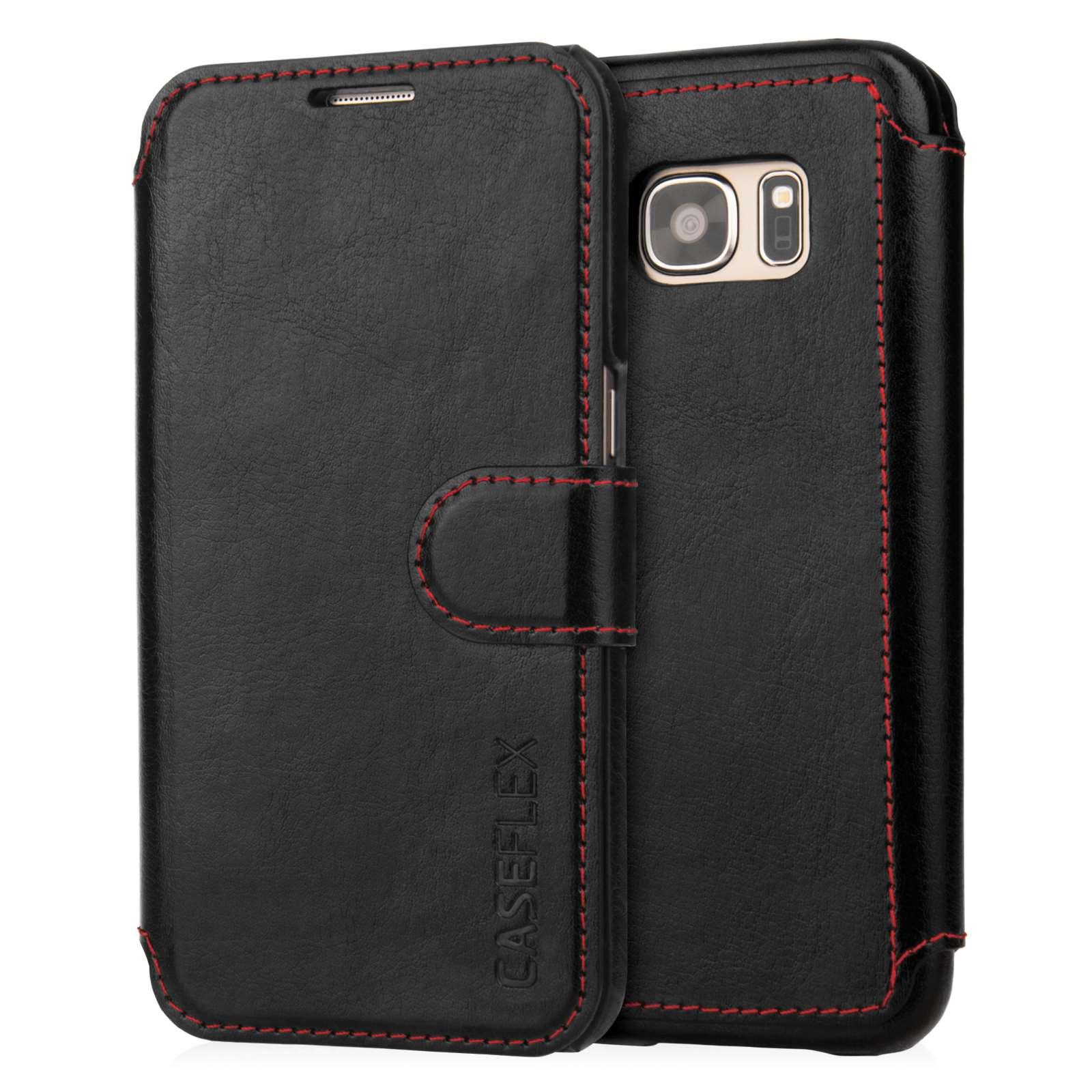 Caseflex Θήκη- Πορτοφόλι Samsung Galaxy S7 - Black (SA-EA06-Z553)