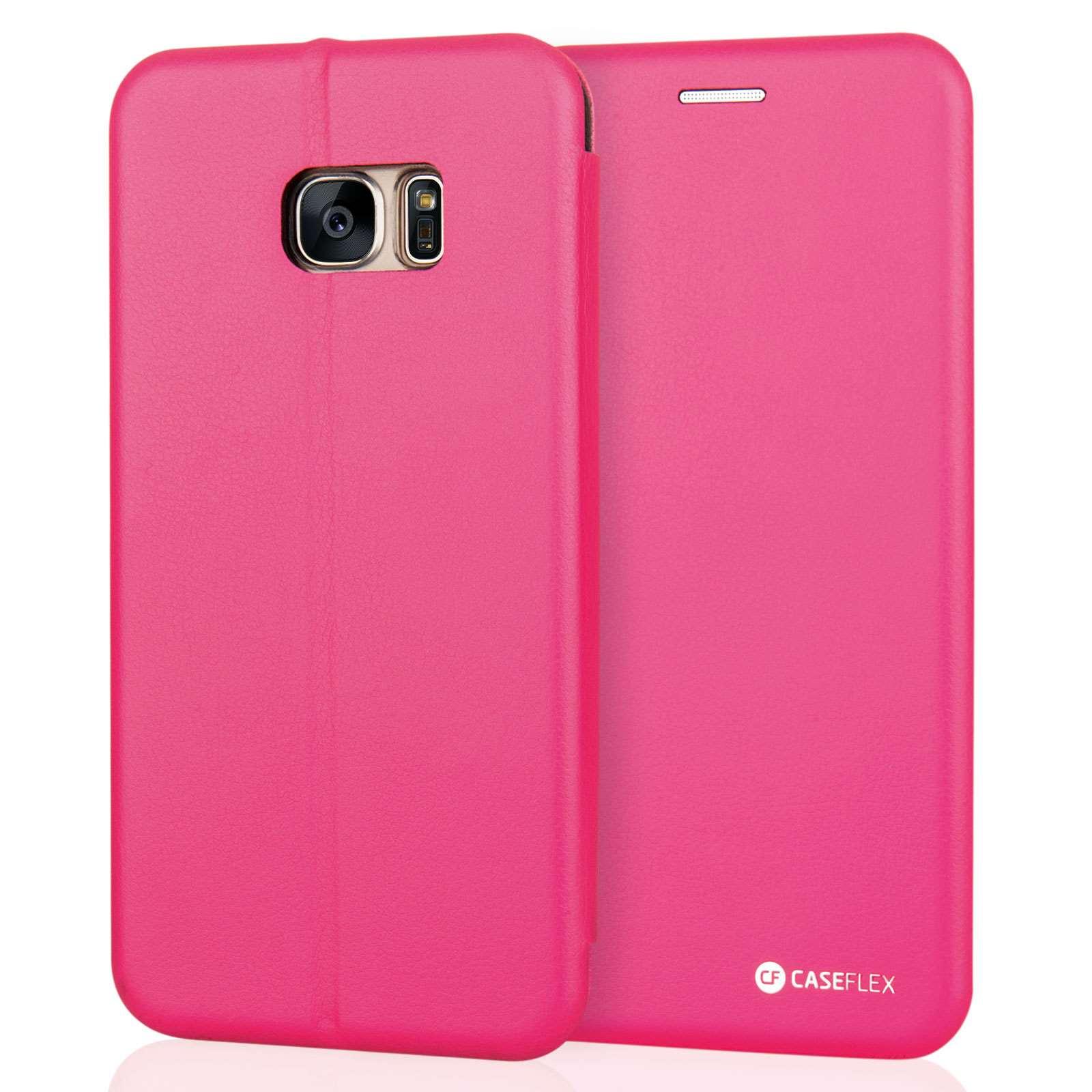 Caseflex Θήκη - Πορτοφόλι Samsung Galaxy S7 Edge - Pink (SA-EA06-Z567)