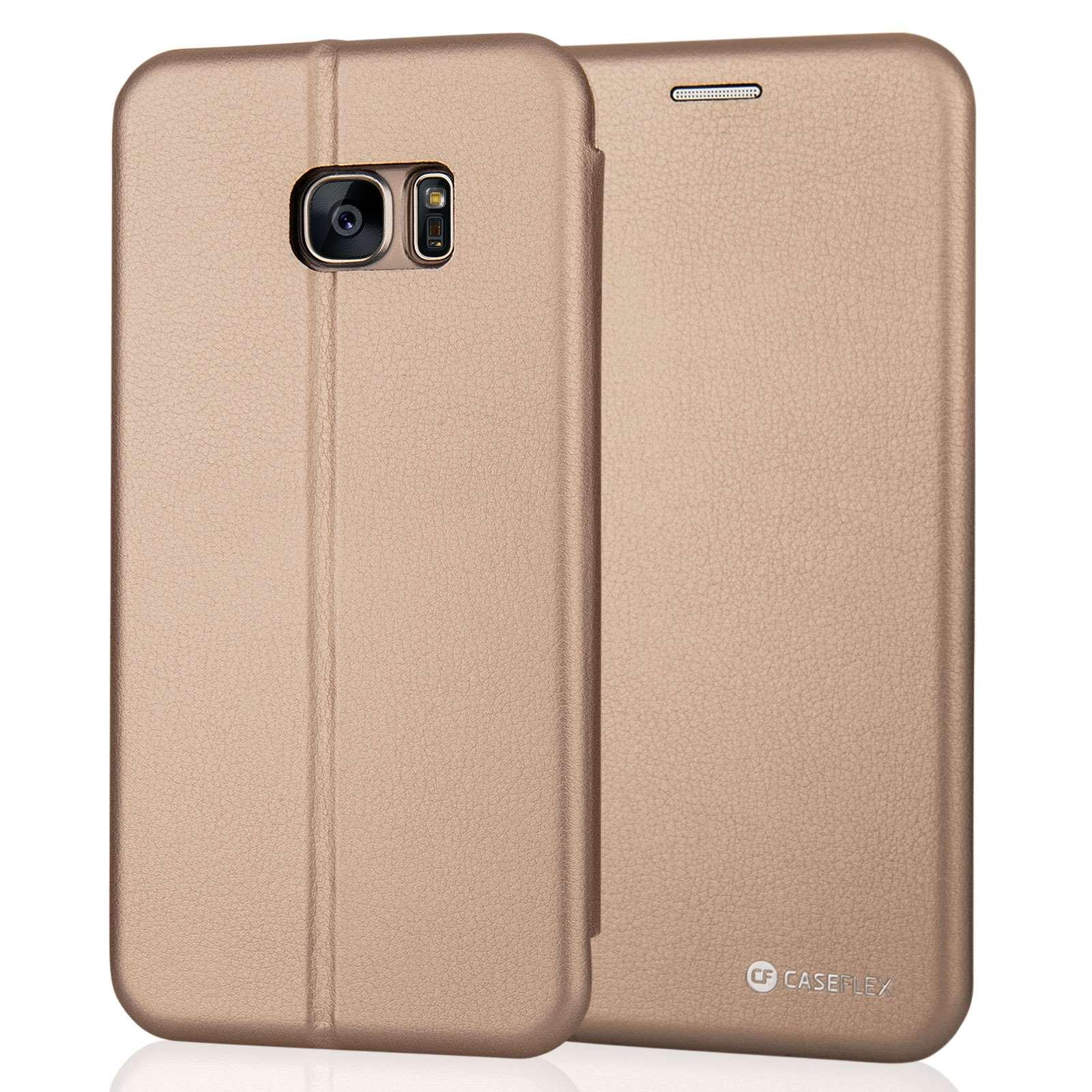 Caseflex Θήκη - Πορτοφόλι Samsung Galaxy S7 Edge - Gold (SA-EA06-Z568)