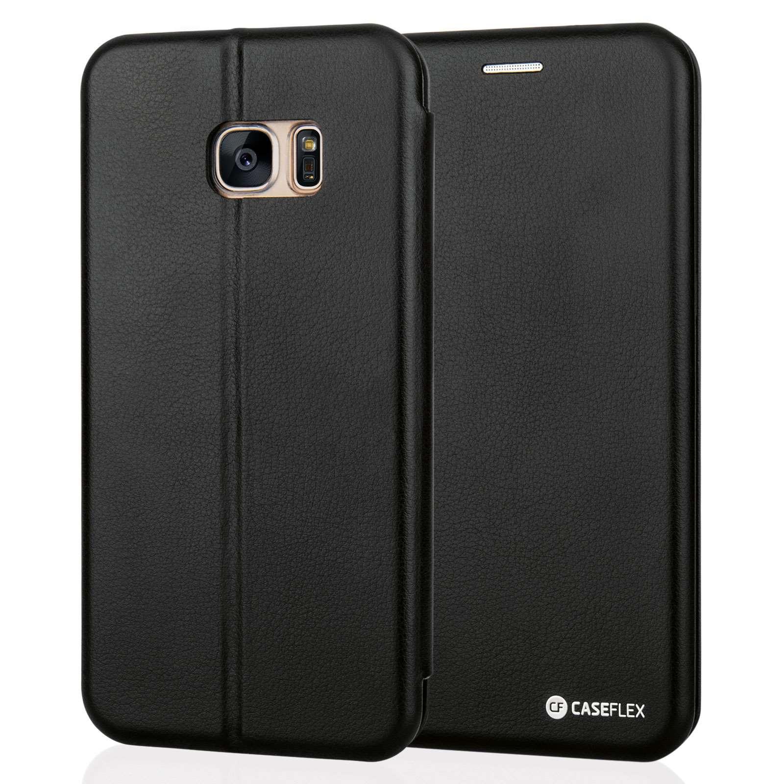 Caseflex Θήκη - Πορτοφόλι Samsung Galaxy S7 Edge - Black (SA-EA06-Z570)